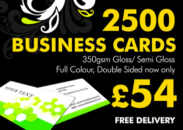 2500 Business Cards, Full Colour Double Sided, only £45
