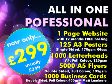 SPECIAL OFFER: All in One Professional Package only £299